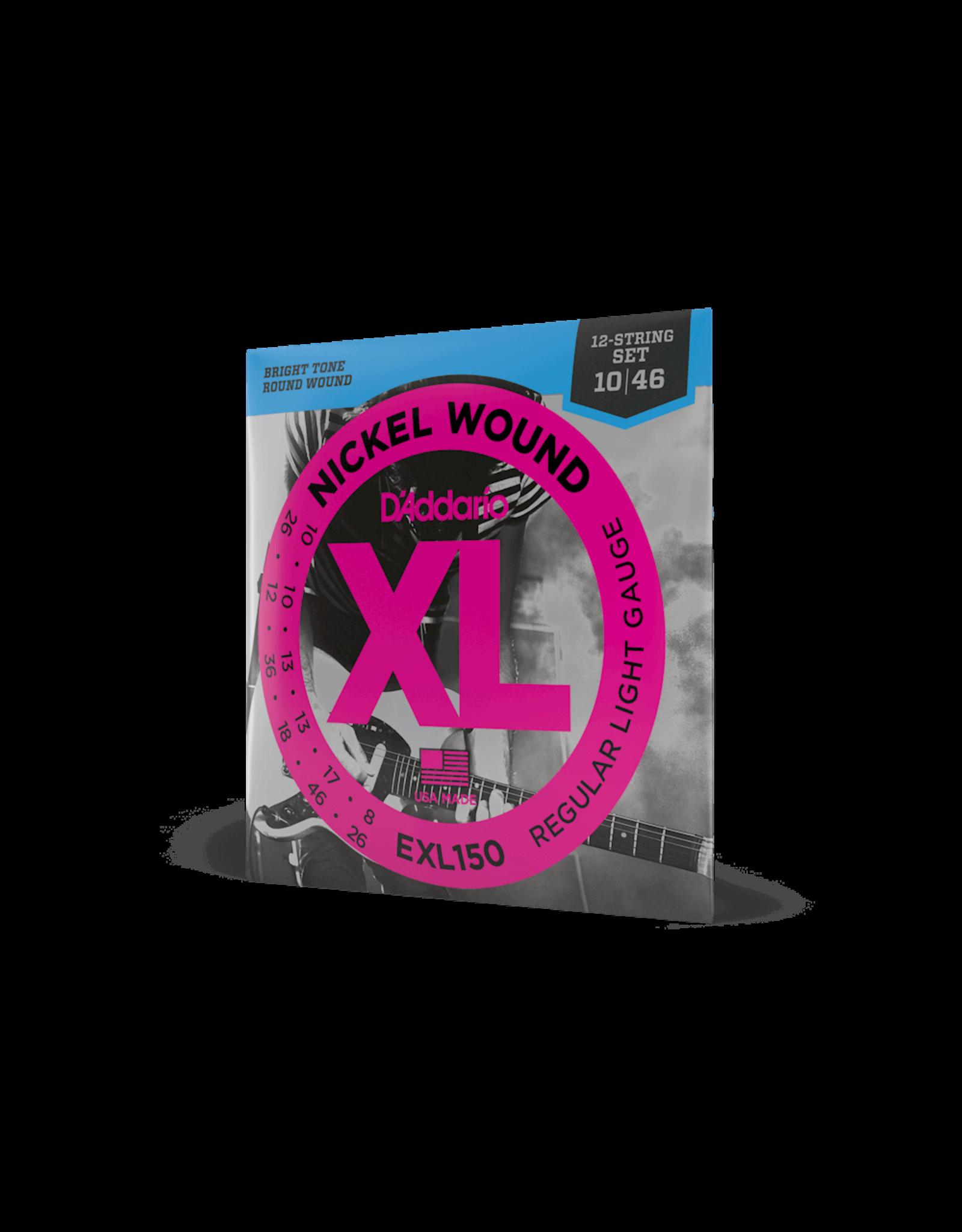 D'Addario D'Addario EXL150 Nickel XL 12-String Electric Guitar Strings