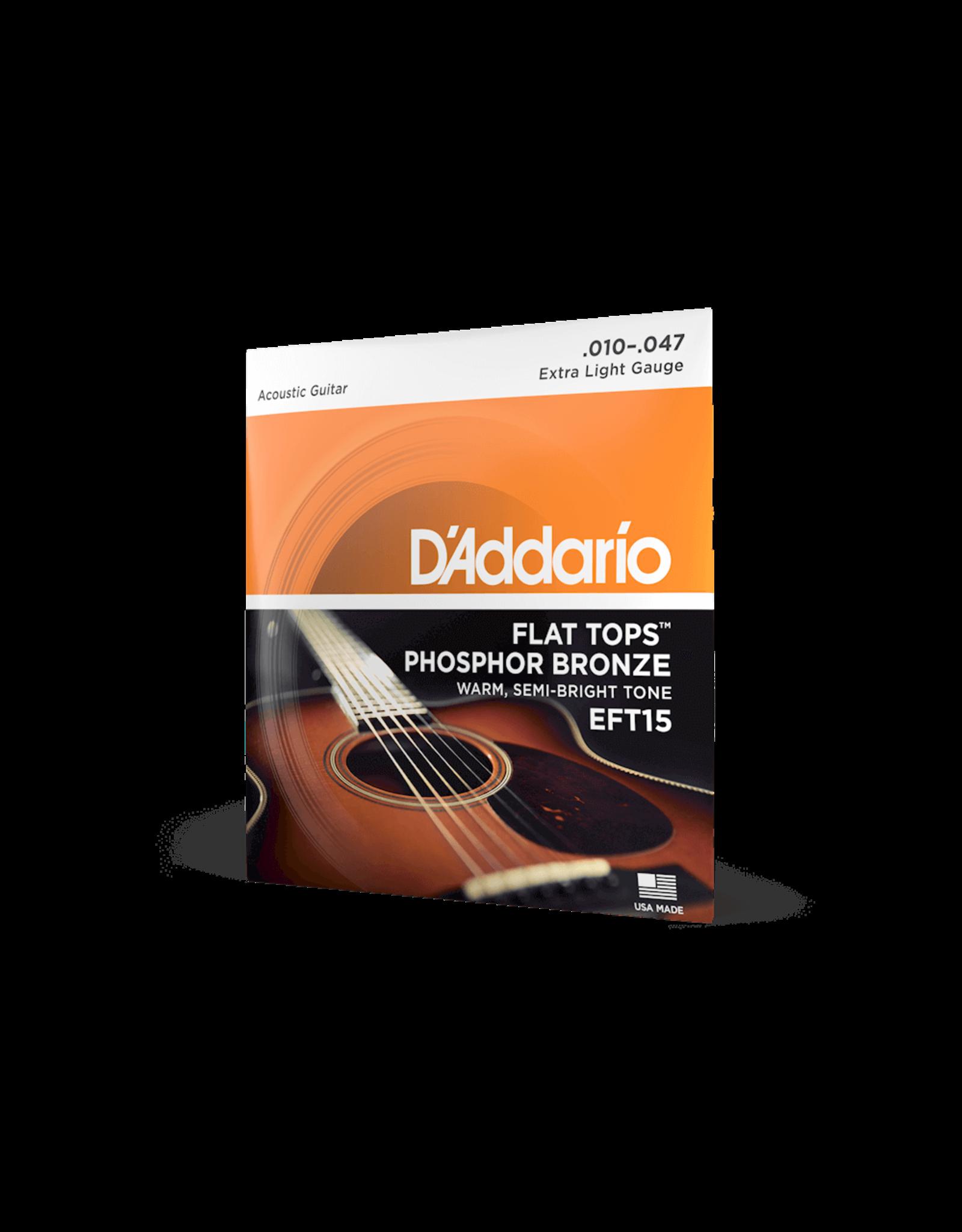 D'Addario D'Addario EFT15 Flat Tops Phosphor Bronze Acoustic - 10-47