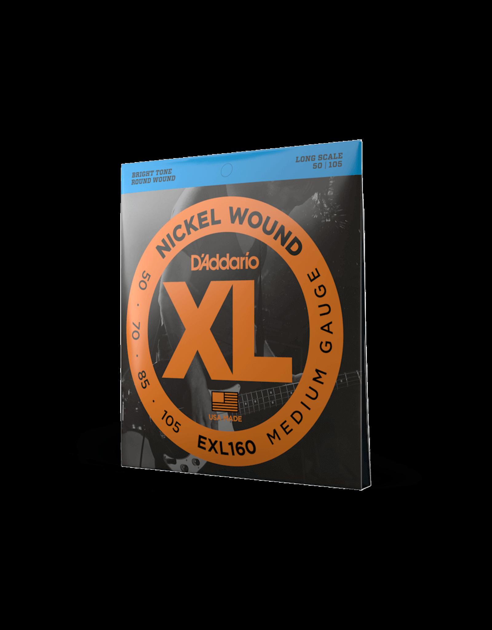 D'Addario D'Addario EXL160 Nickel Wound Bass, Medium, 50-105, Long Scale