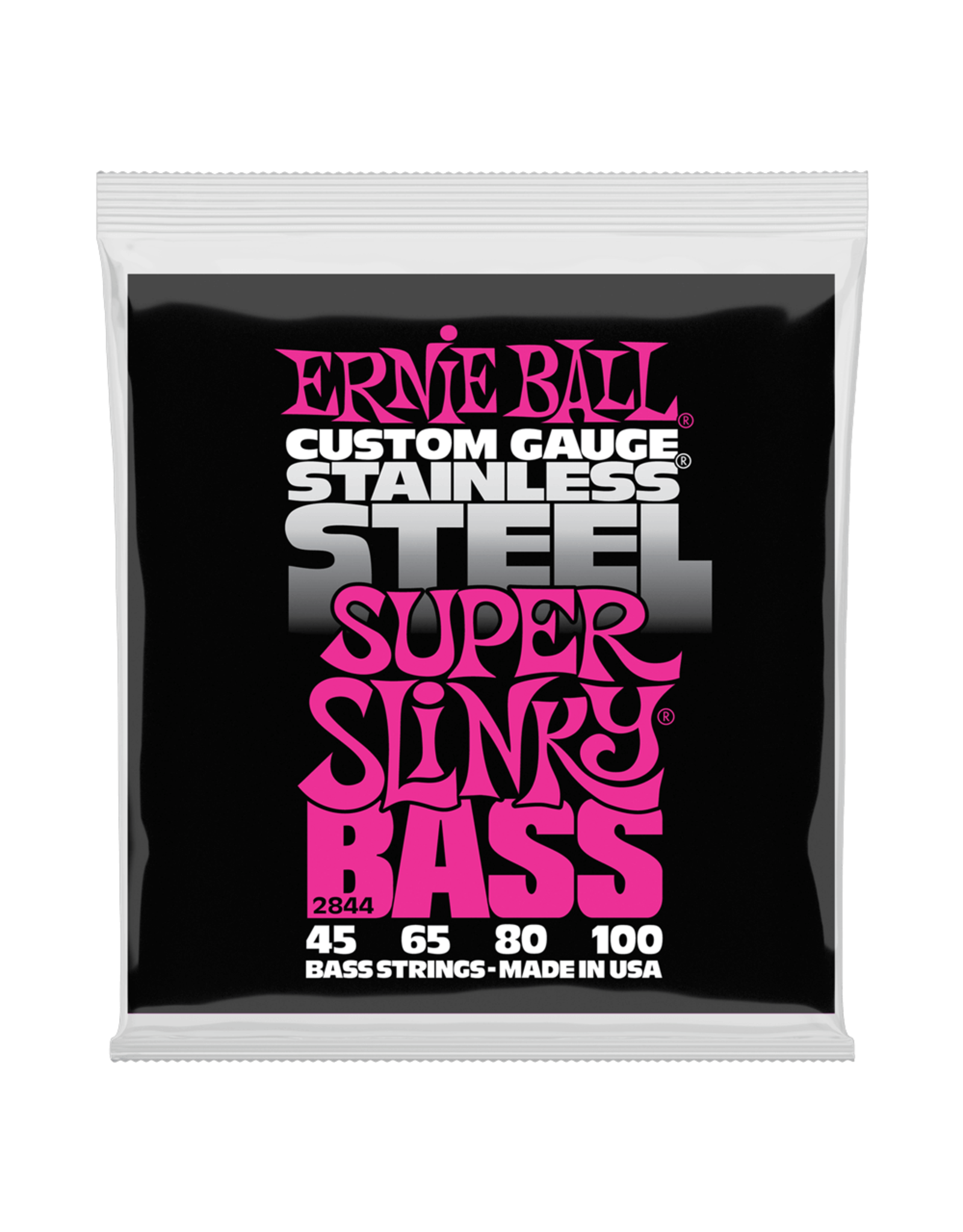 Ernie Ball Ernie Ball 2844 Super Slinky Stainless Steel Electric Bass Strings - 45-100 Gauge