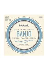D'Addario D'Addario EJ60 Nickel-Plated Steel Banjo Strings - .009-.020 Light 5-Str