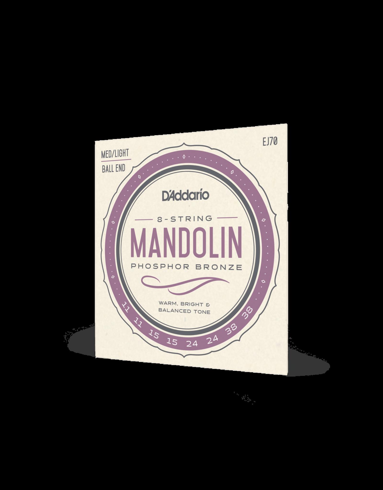 D'Addario D'Addario EJ70 Phosphor Bronze Ball End Mandolin Strings