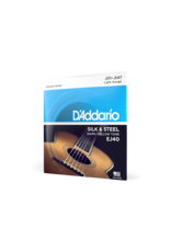 D'Addario D'Addario EJ40 Silk and Steel Ball End Regular Light Acoustic Folk Guitar Strings - 11-47
