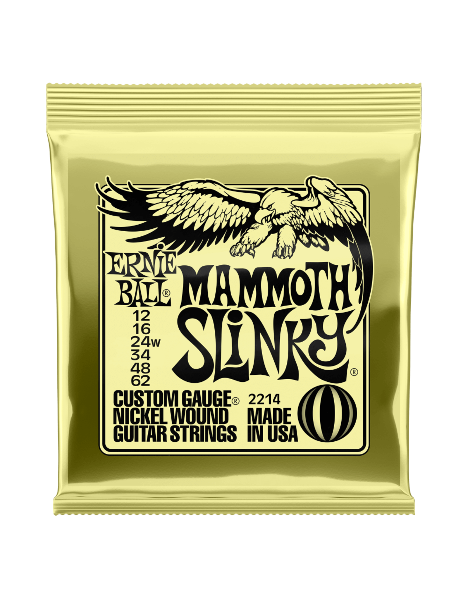 Ernie Ball Ernie Ball 2214 Mammoth Slinky Nickel Wound Electric Guitar Strings 12-62 Gauge