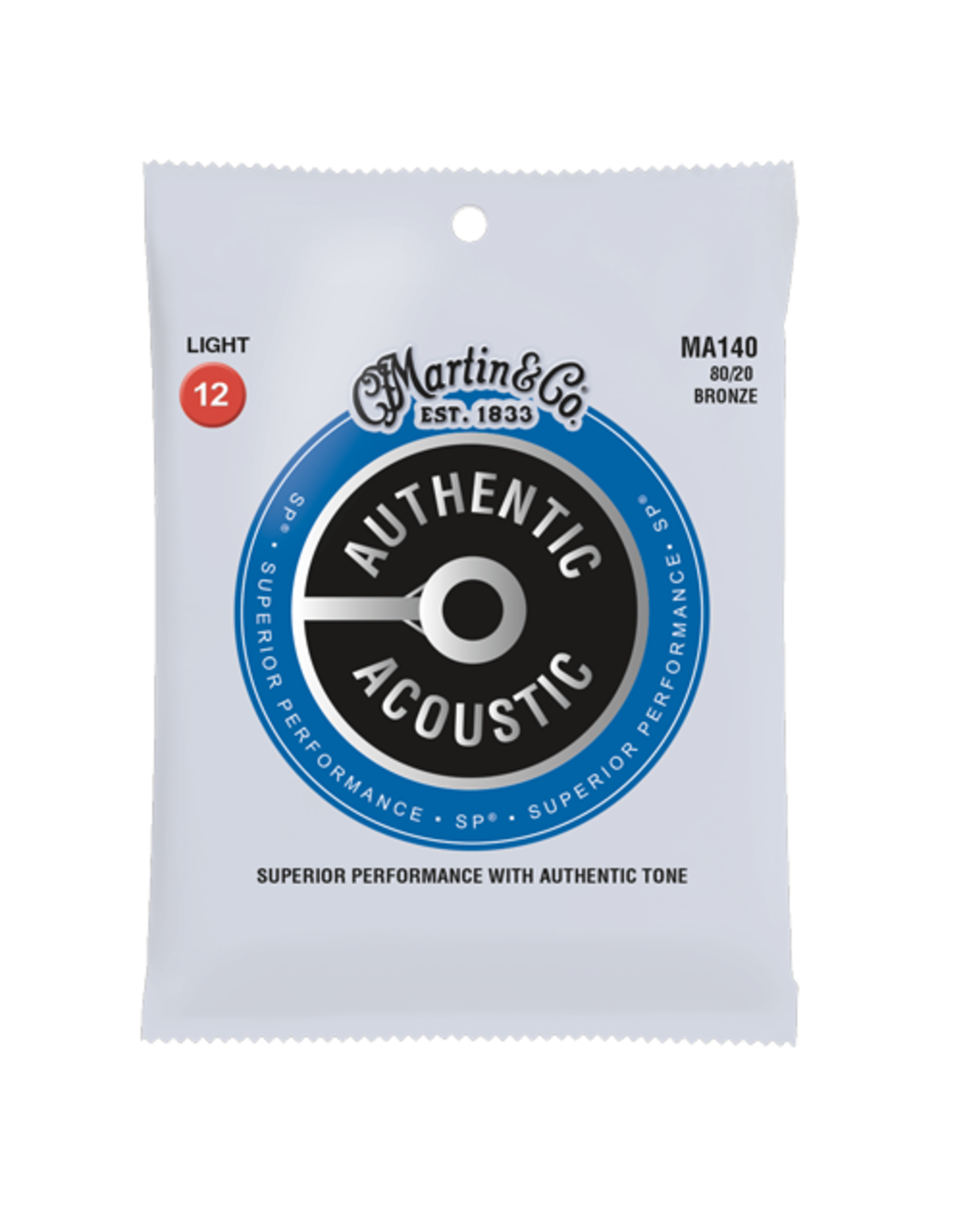 C. F. Martin & Co. Martin MA140 SP 80/20 Bronze Light Authentic Acoustic Guitar Strings