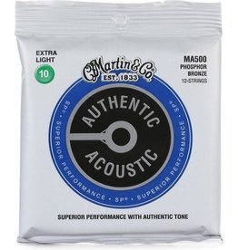 Martin & Co Martin MA500 SP 12-String Phosphor Bronze Extra-Light Authentic Acoustic Guitar Strings