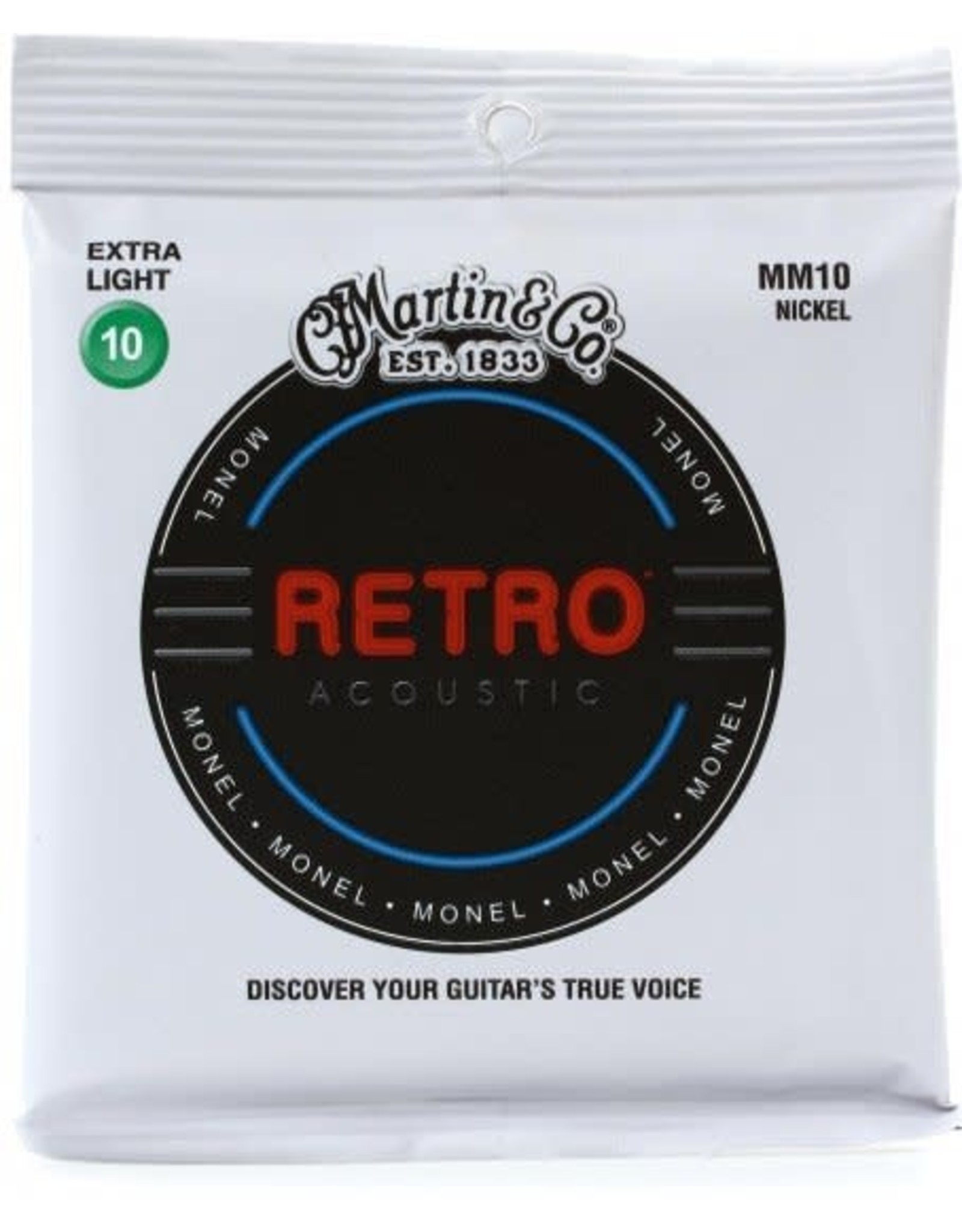 Martin & Co Martin MM10 Retro Extra Light Acoustic Guitar Strings. 10-47