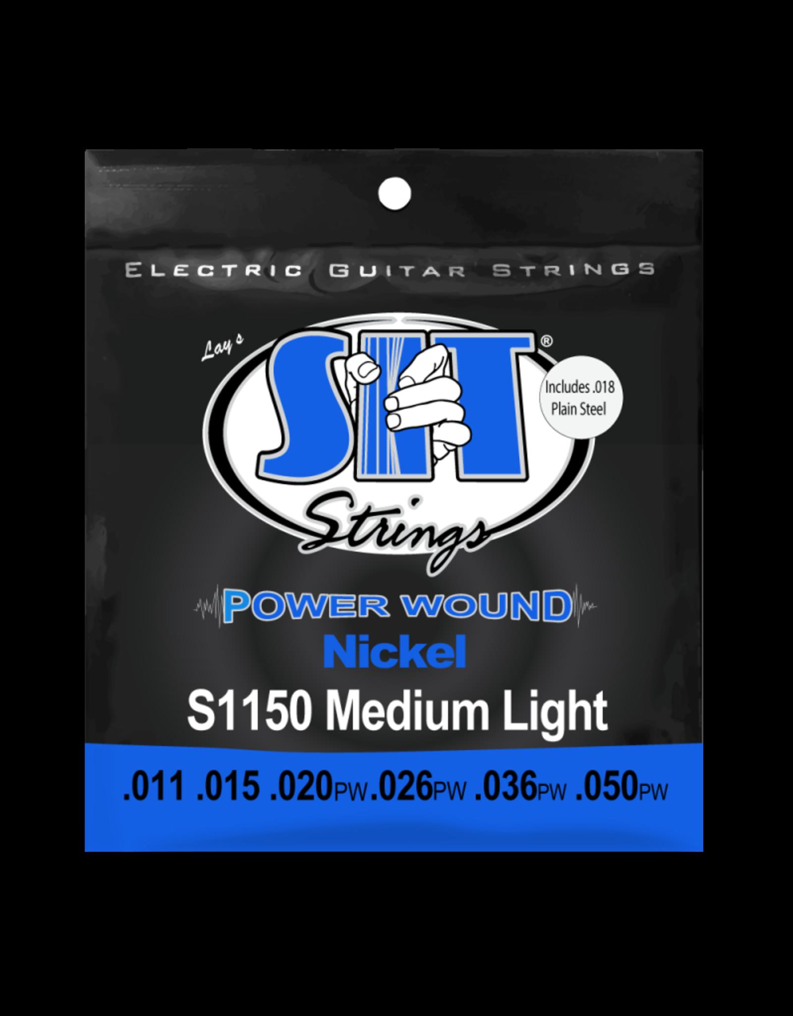 SIT Strings SIT S1150 POWER WOUND Nickel Medium Light Electric Guitar Strings