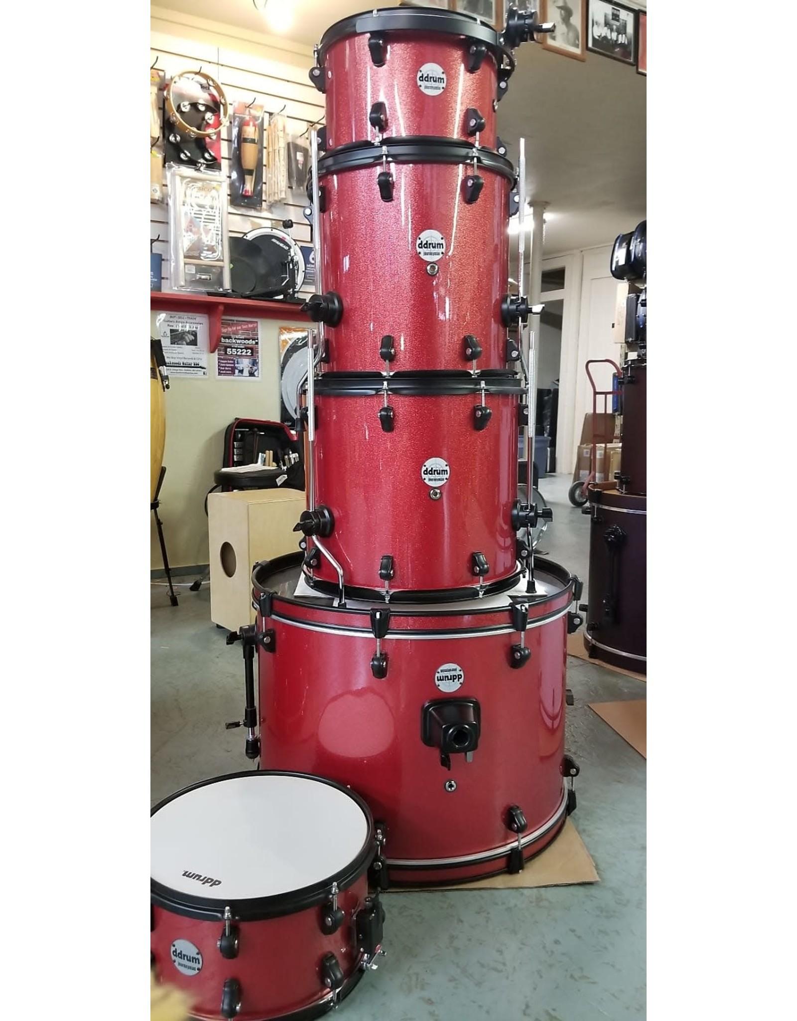 ddrum Ddrum Journeyman Complete Drum Set w/Hardware - Red Sparkle