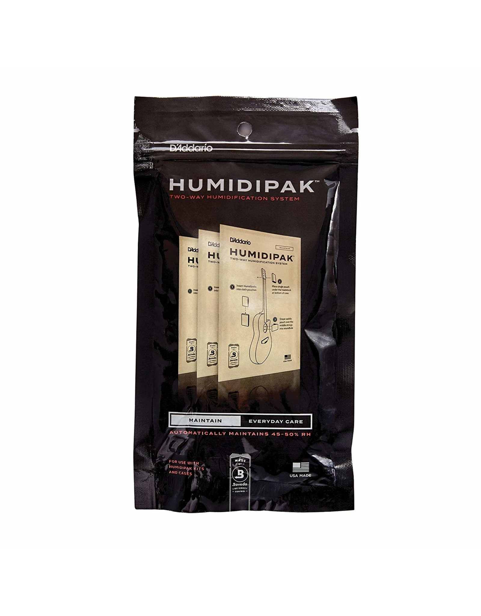 D'Addario D'Addario Humidipak System Replacement Packets, 3-pack