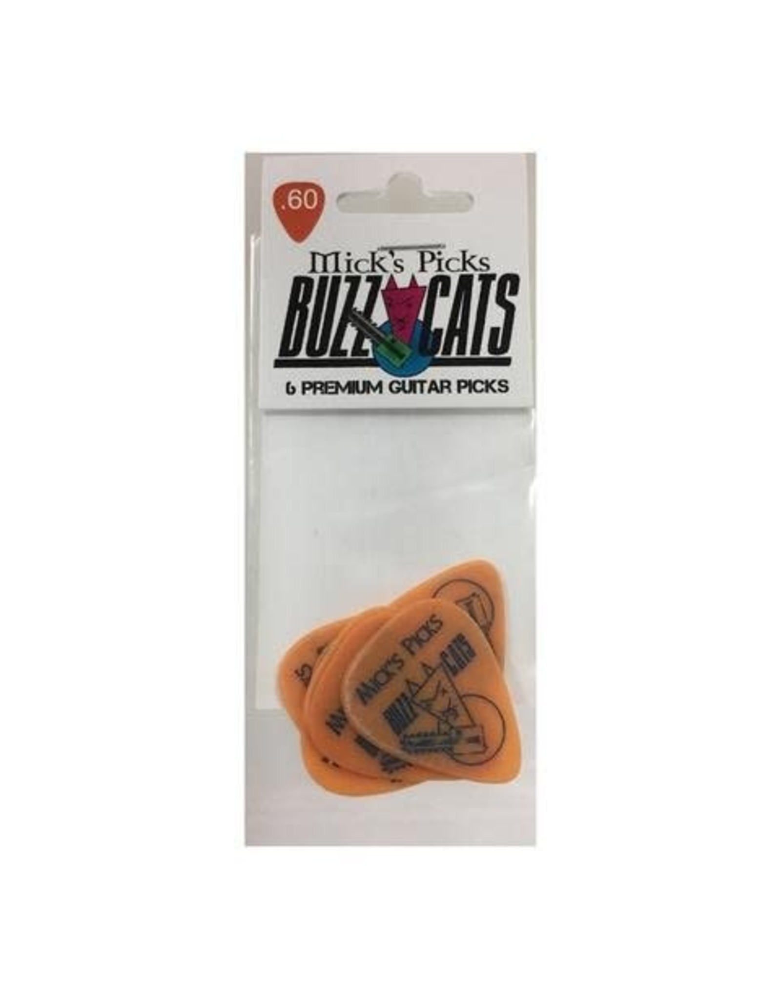 Mick's Picks Buzz Cats Premium Guitar Picks .60 Orange