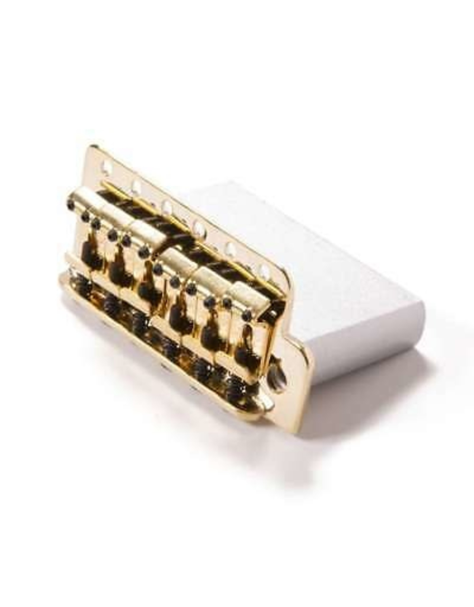 "Fender Fender Vintage-Style Strat Bridge Assembly, (2-3/16"" Spacing), Gold"