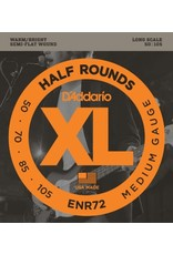 D'Addario D'Addario ENR72 Half Rounds Bass, Medium, 50-105, Long Scale