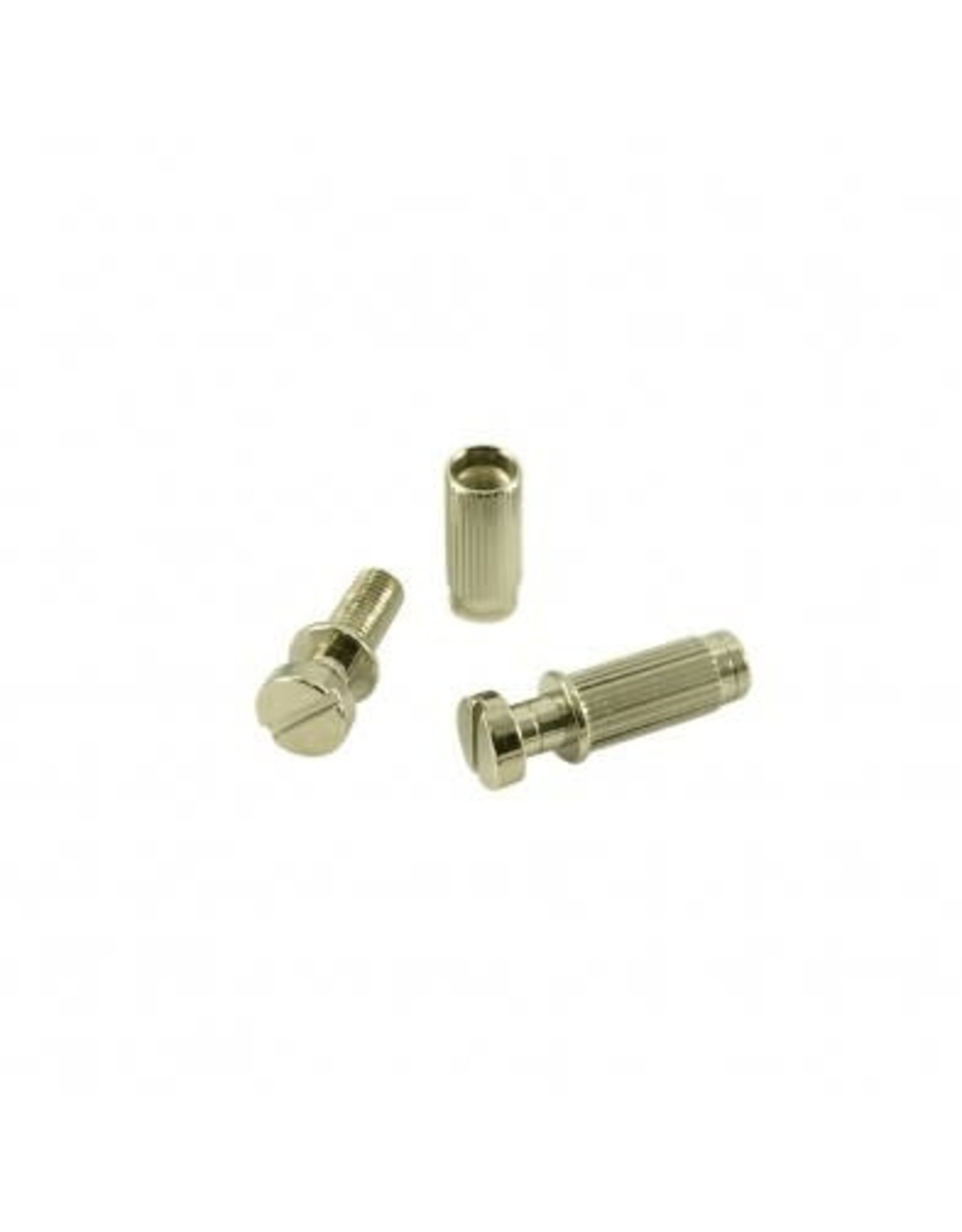 WDMusic WD® 4 Piece Stop Tailpiece Stud & Insert Set With USA Threads Nickel
