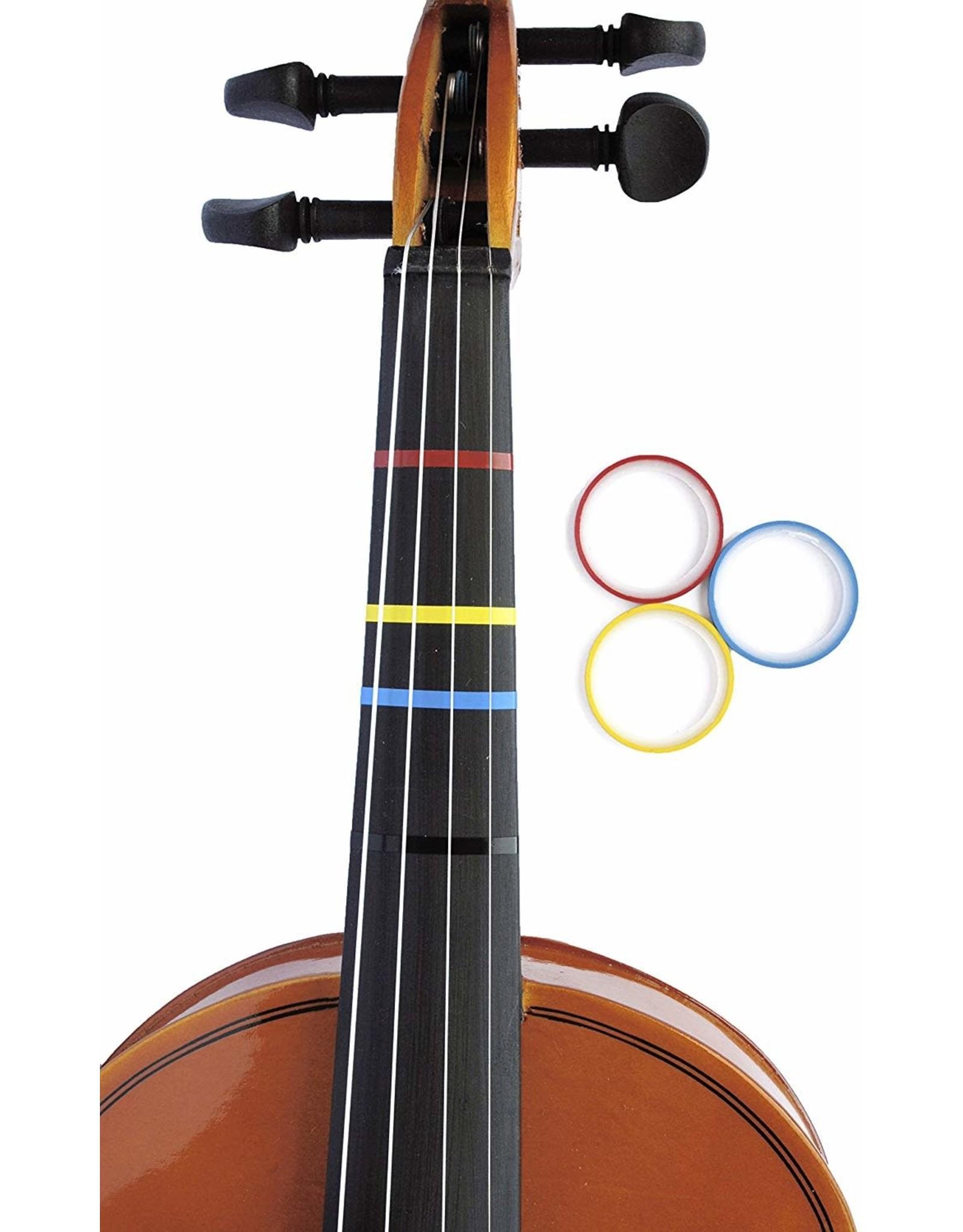 Long Beach Violin Fretboard 3 Color Tape