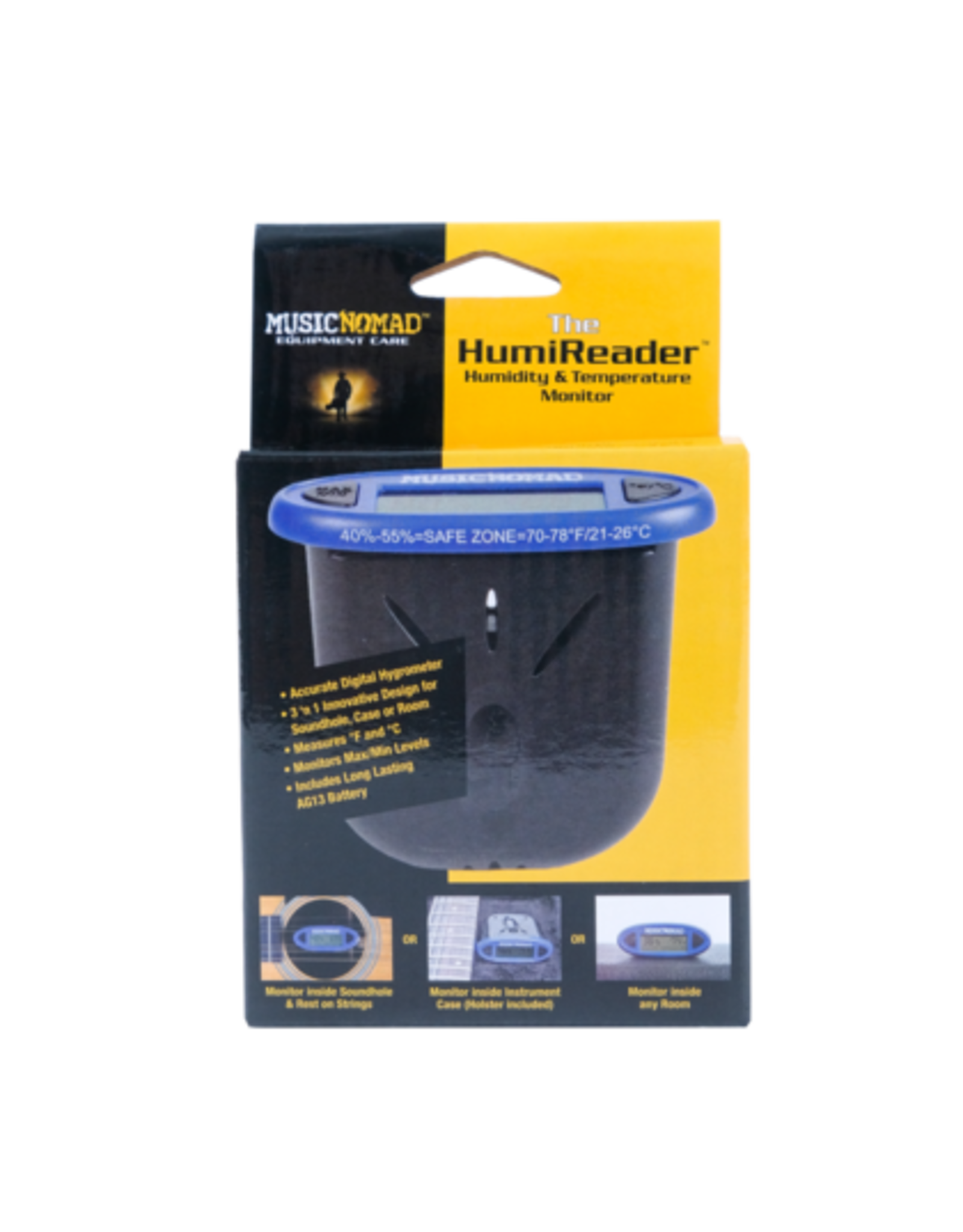 Music Nomad The HumiReader - Humidity & Temperature Monitor