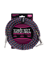Ernie Ball Ernie Ball 6063 25ft Straight/Angle Braided Red/White/Blue Braided Cable