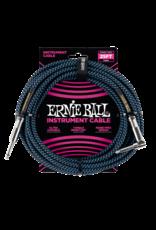 Ernie Ball Ernie Ball 6060 25' Straight/Angle Braided Black/Blue Cable