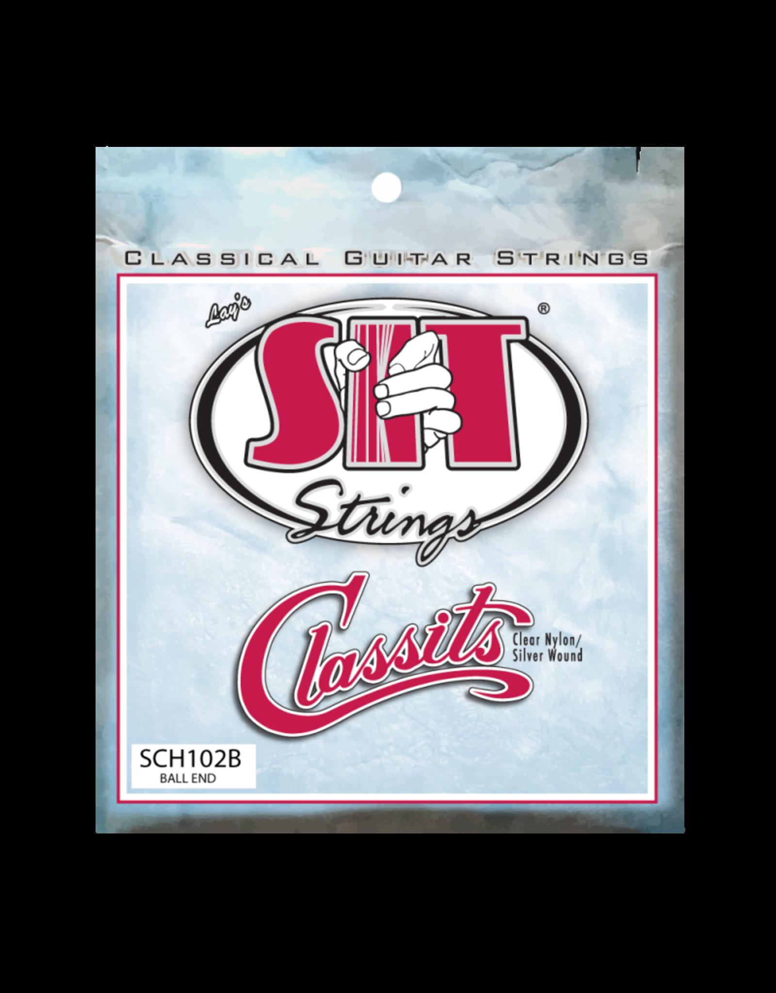 SIT Strings SIT SCH102B High Tension Folk Classits Clear Nylon & Silver Wound Ball End