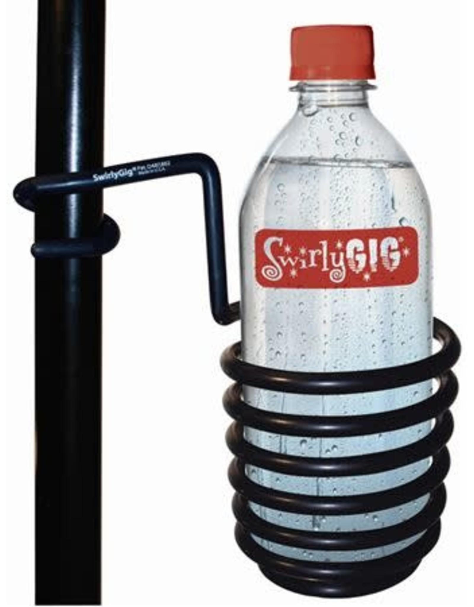SwirlyGig The SwirlyGig II Drink Holder for 1 inch. Tubing -Black Accessory