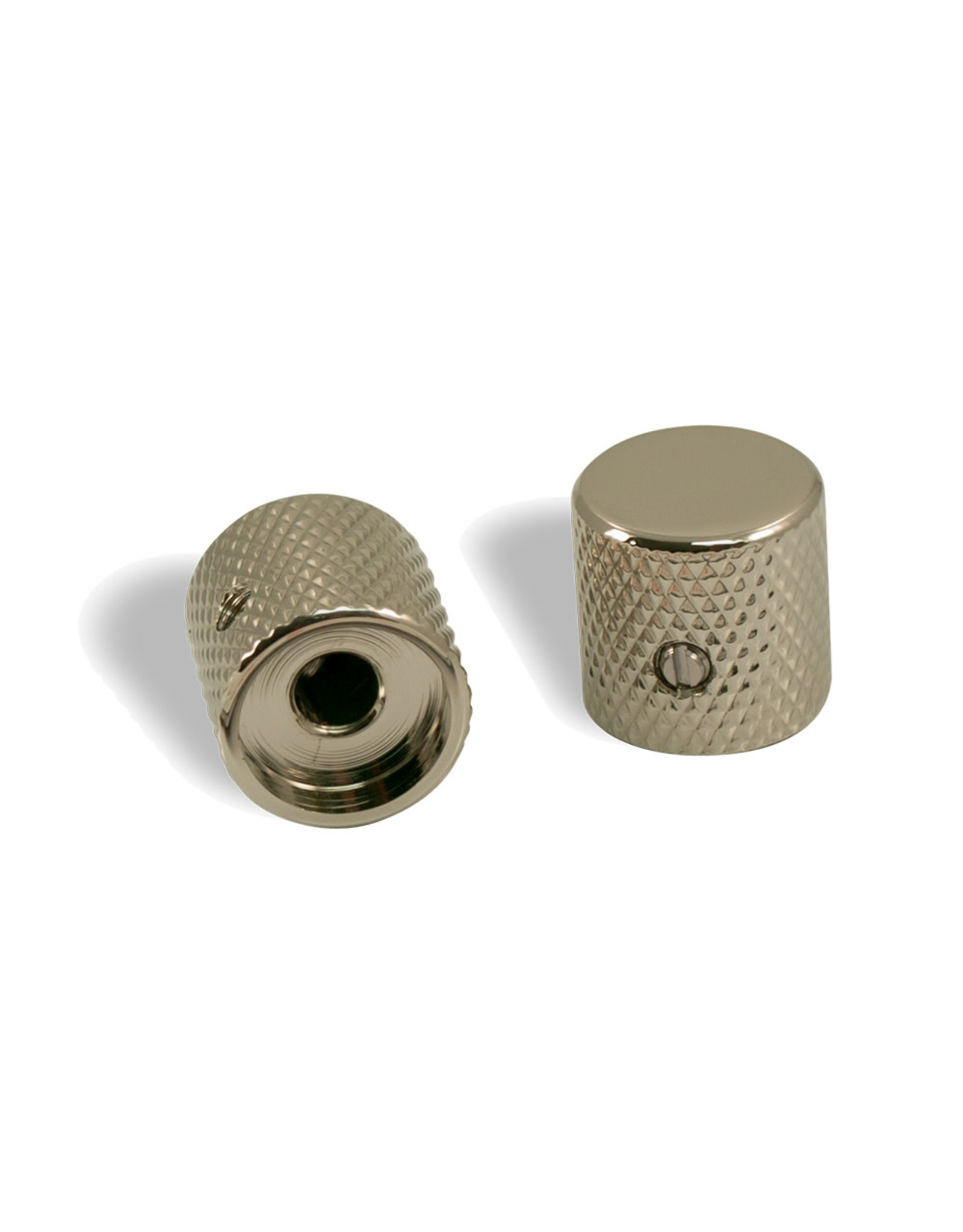 WD Music Products WD® Brass Barrel Knob Set Of 2 With 1/4 in. Internal Diameter Nickel