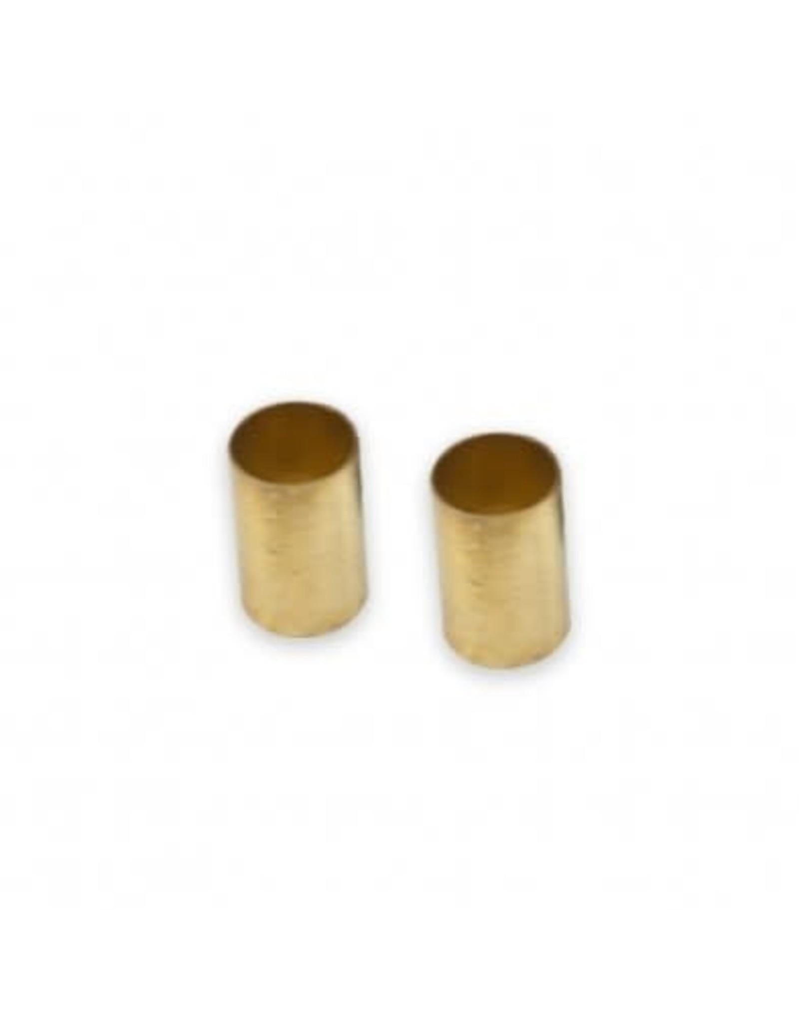 "WDMusic WD® Brass Dome Knob Set of 2 w/1/4"" Internal Diameter Unplated"
