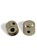 WD Music Products WD® Brass Dome Knob Set Of 2 With 1/4 in. Internal Diameter Nickel