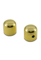 WDMusic WD® Brass Dome Knob Set Of 2 With 1/4 in. Internal Diameter Gold