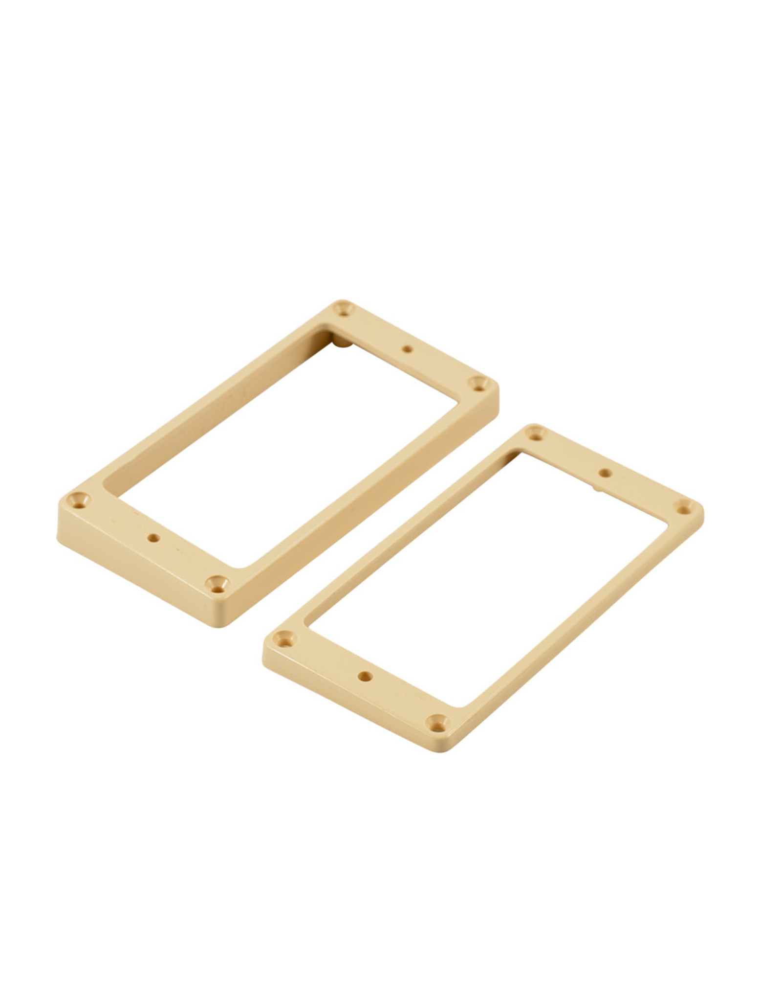 WD Music Products WD® Flat Plastic Humbucker Pickup Mounting Ring Cream Set of 2