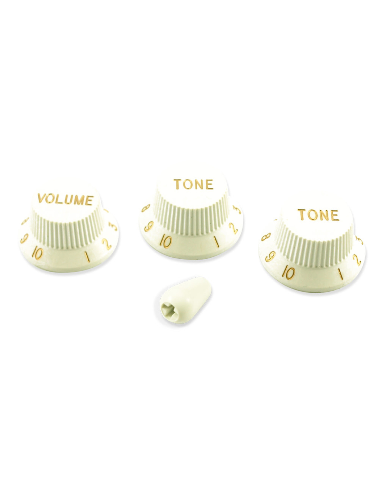 WD Music Products WD Stratocaster/UFO Style Knob Set w/Tip White