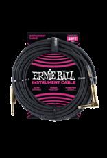 Ernie Ball Ernie Ball 6058 25' Braided Straight/Angle Instrument Cable - Black