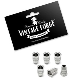 Vintage Forge Vintage Forge Chrome String-Through Body Ferrules Bullet Shape for Electric Guitar (Set of 6)