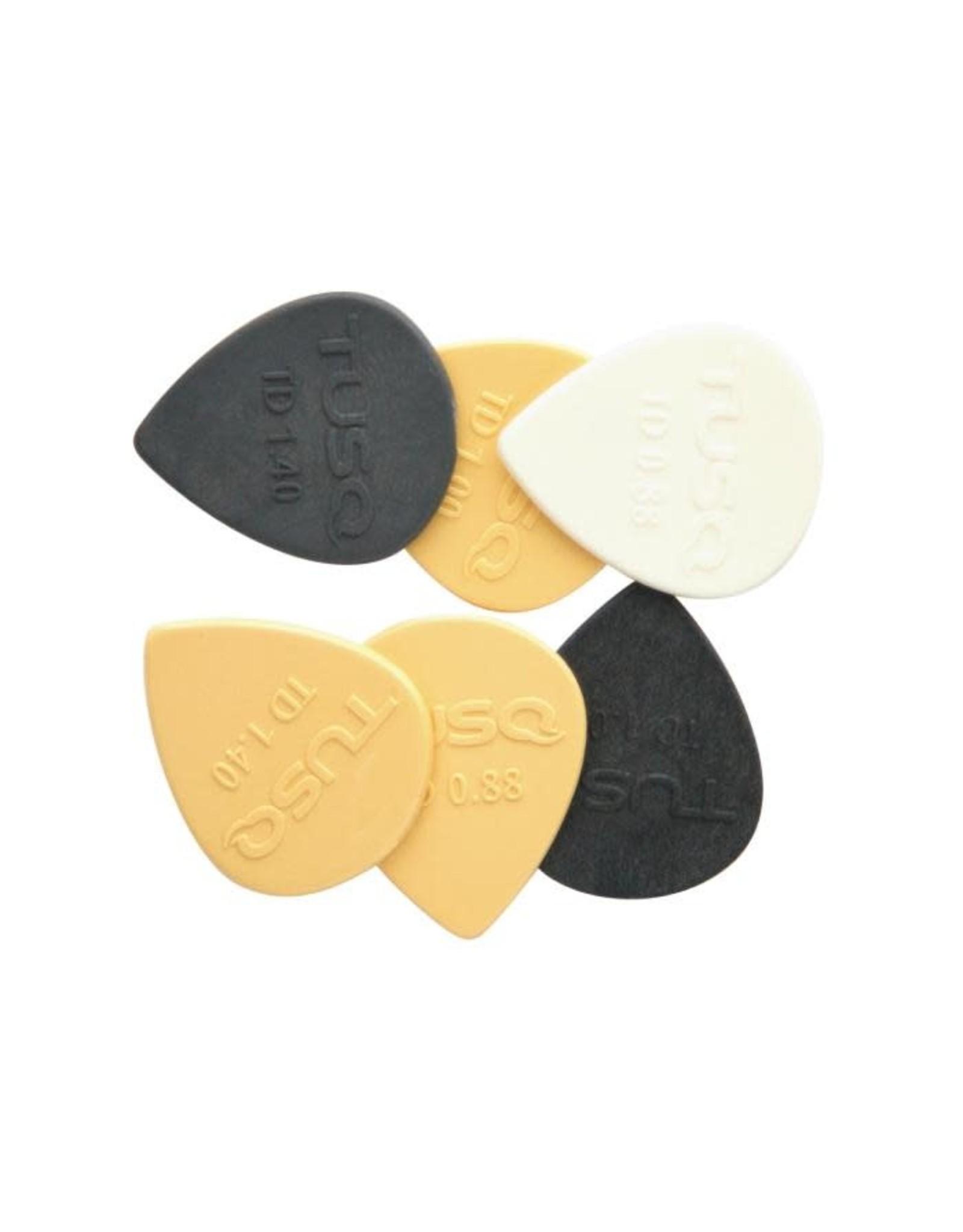 TUSQ TUSQ Standard Pick Mixed 6 Pack Tear Drop