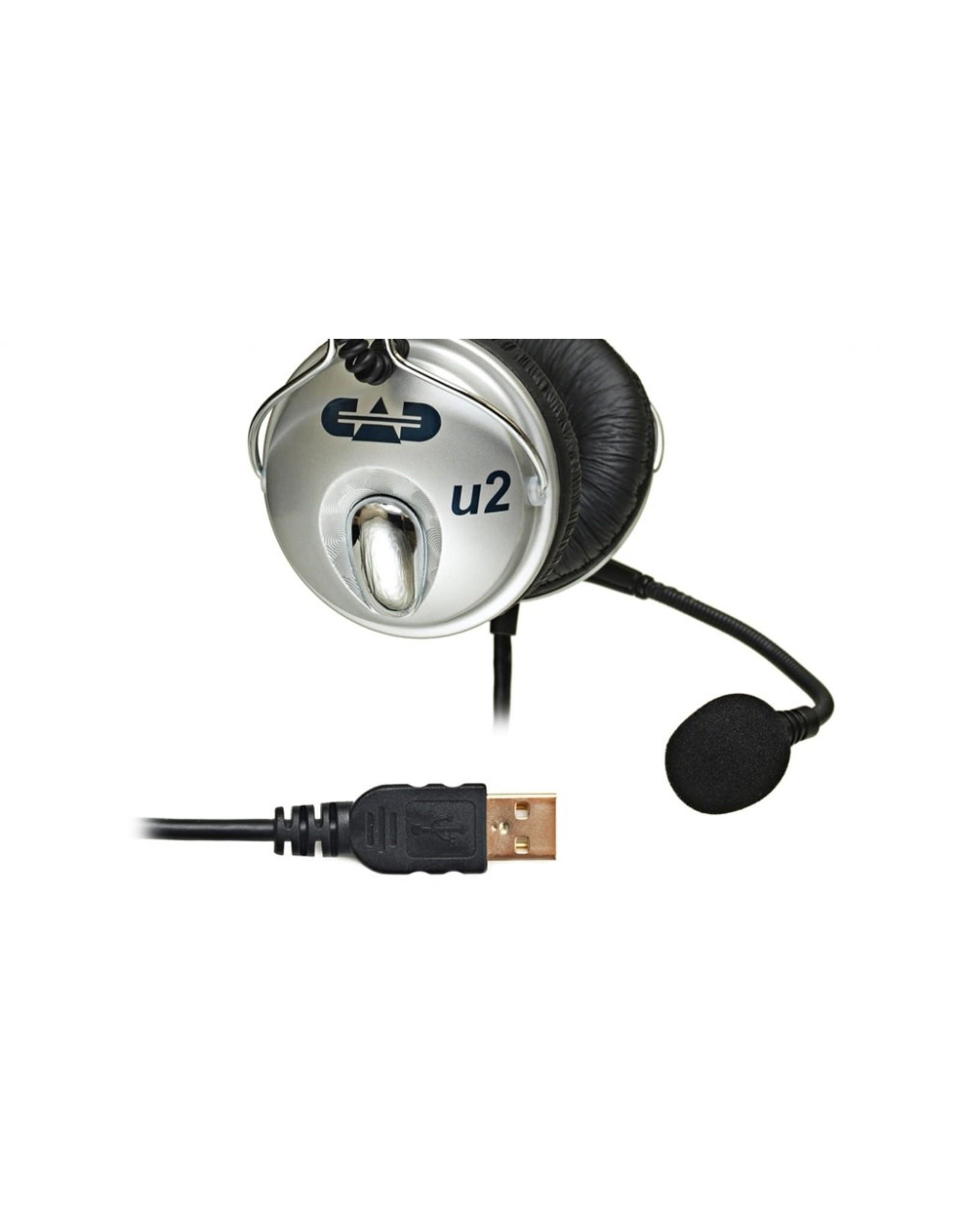 CAD CAD USB Stereo Headphones w/Cardioid Condenser Microphone