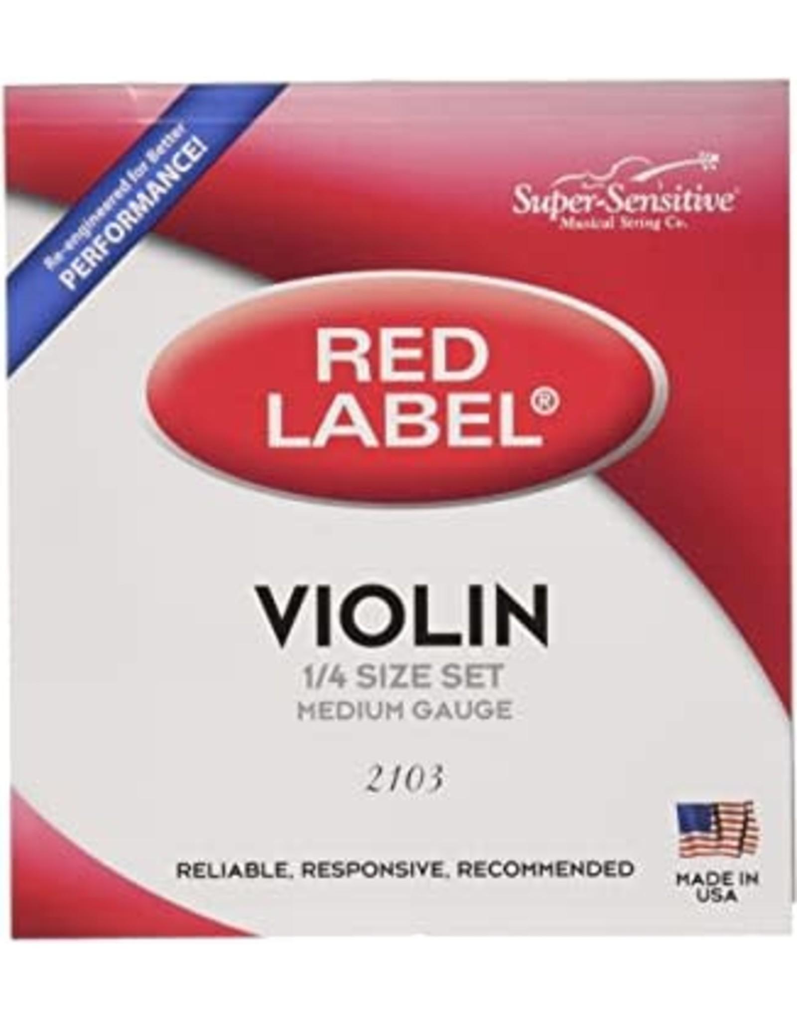 Red Label Red Label Super-Sensitive Violin Strings Medium 1/4 Size