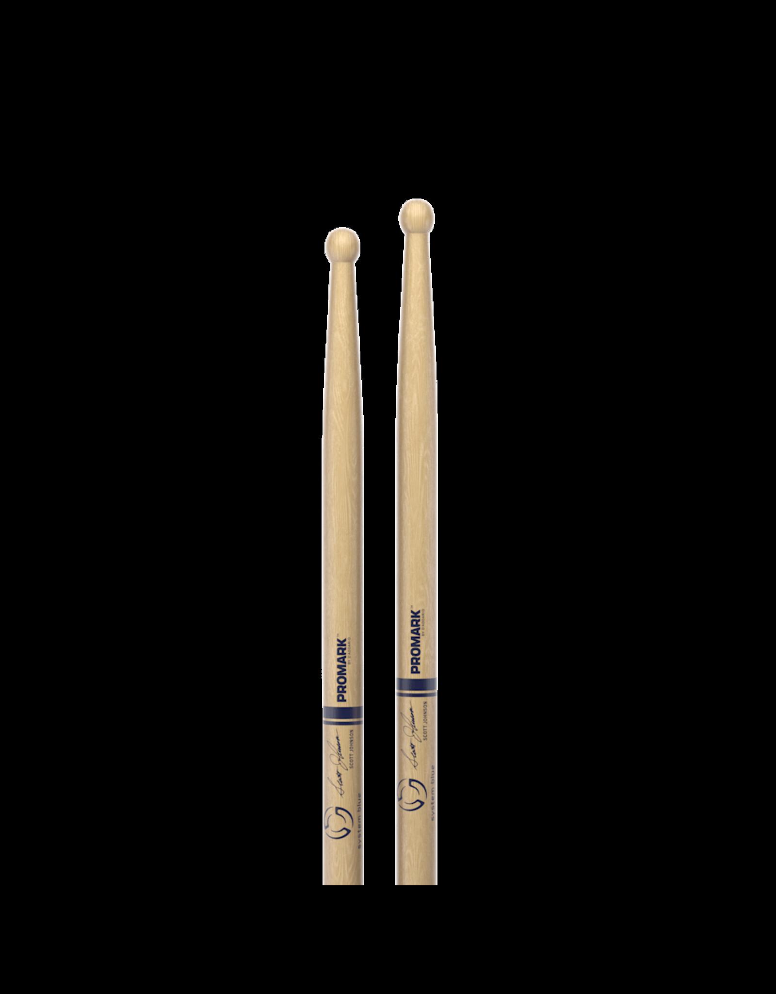 Promark Promark SCOTT JOHNSON DC17 Signature Hickory Wood Tip Drumstick