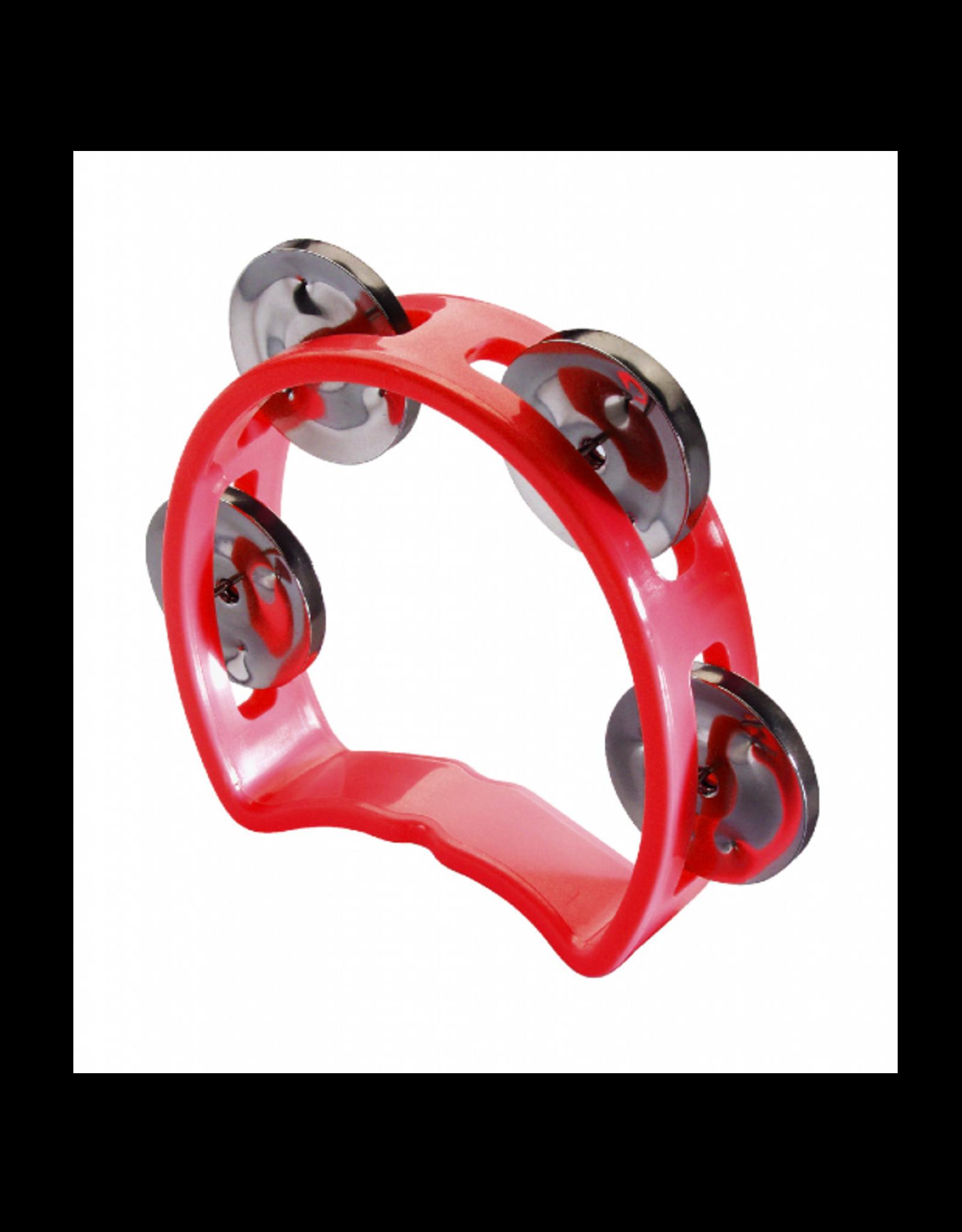 Stagg Stagg Plastic Cutaway Mini Tambourine Red