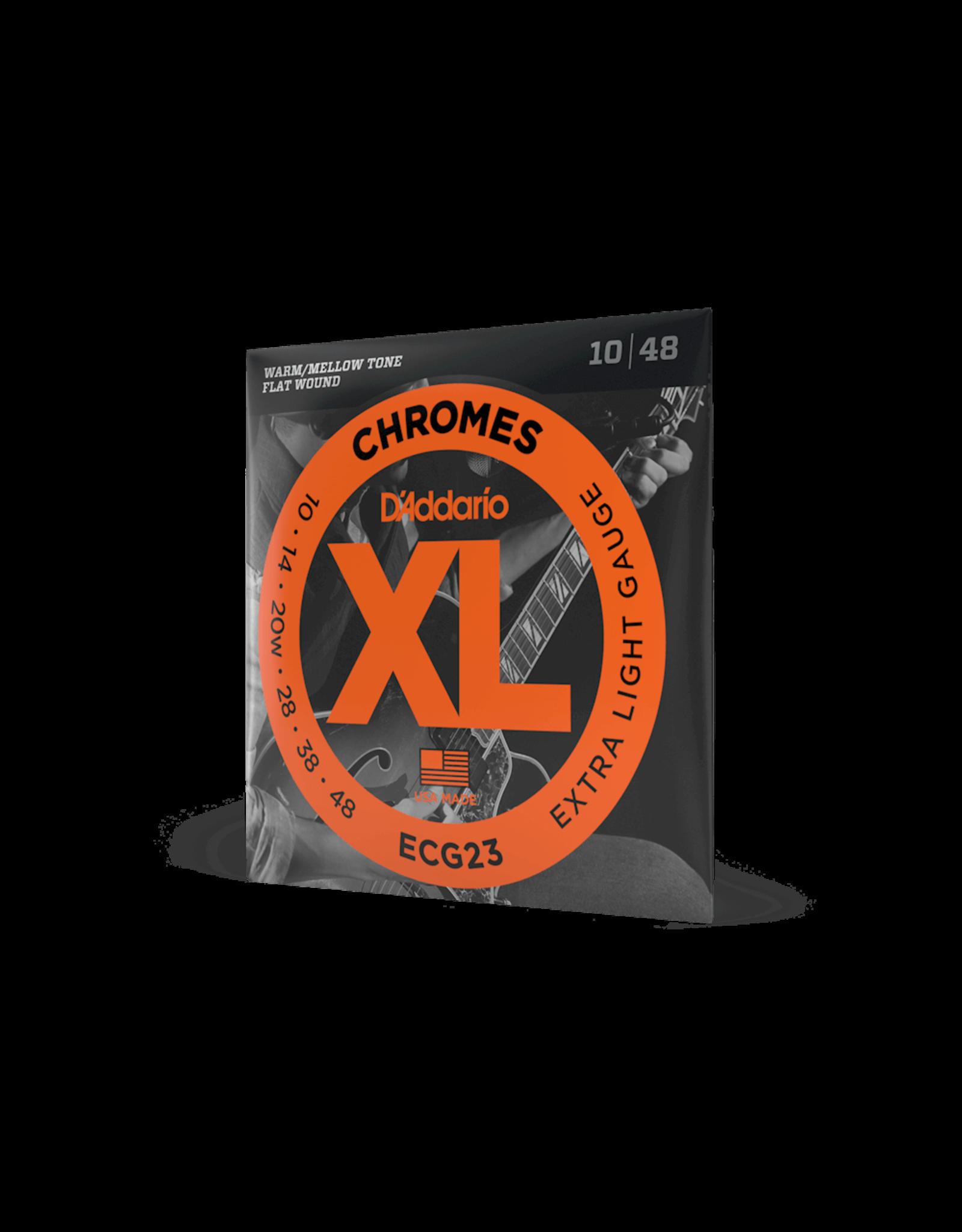 D'Addario D'Addario ECG23 Chromes Flatwound Extra Light Electric Strings