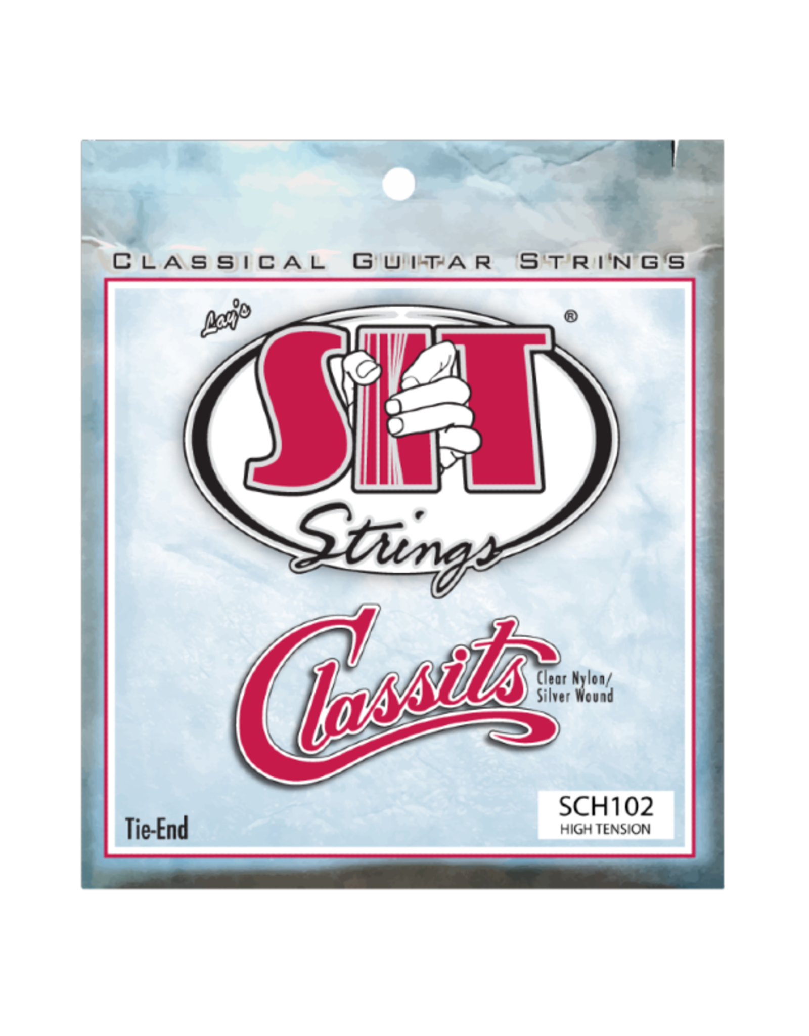 SIT SIT SCH102 High Tension Folk Classits Clear Nylon & Silver Wound Tie End
