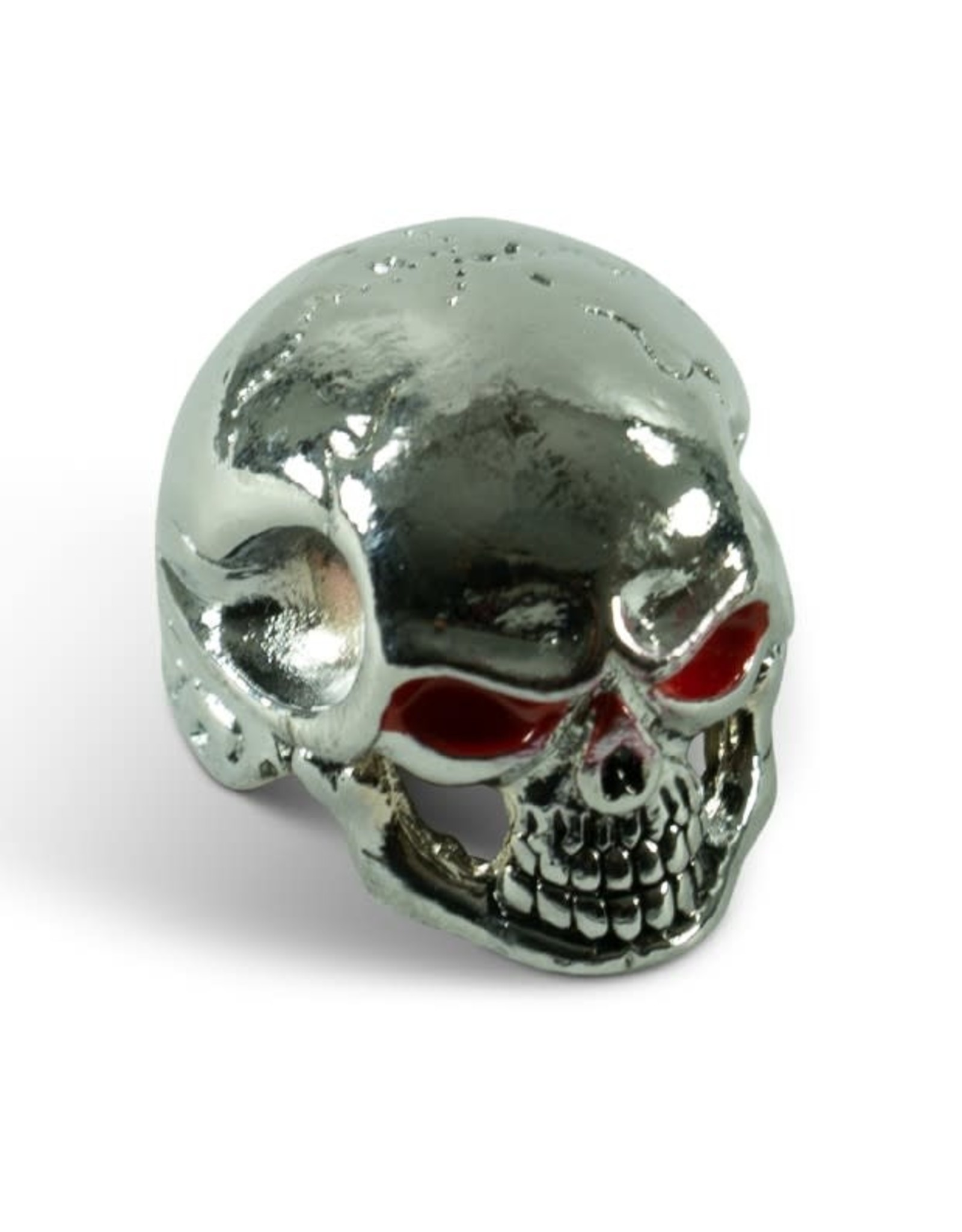 Q-Parts Q-Parts Jumbo Skull Knob I Bloodshot Chrome