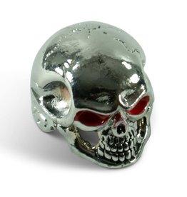 Q-Parts Q-Parts Jumbo Skull Knob I Bloodshot Chrome