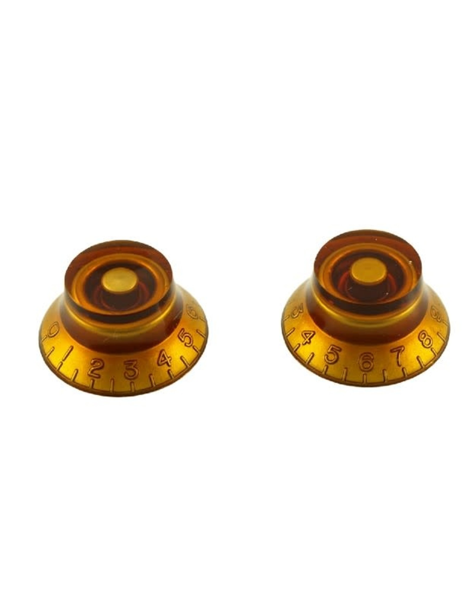 WD Music Products WD Bell Knob Set Of 2 Amber