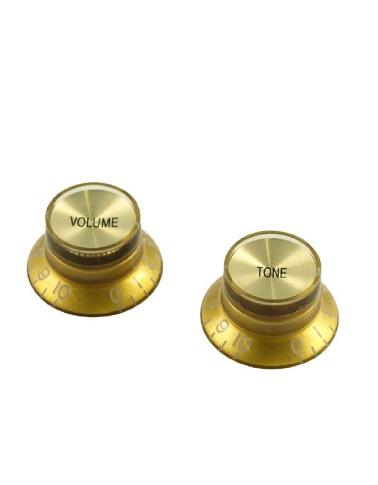 WD Music Products WD Bell Knob Set Of 2 Gold w/Gold Top