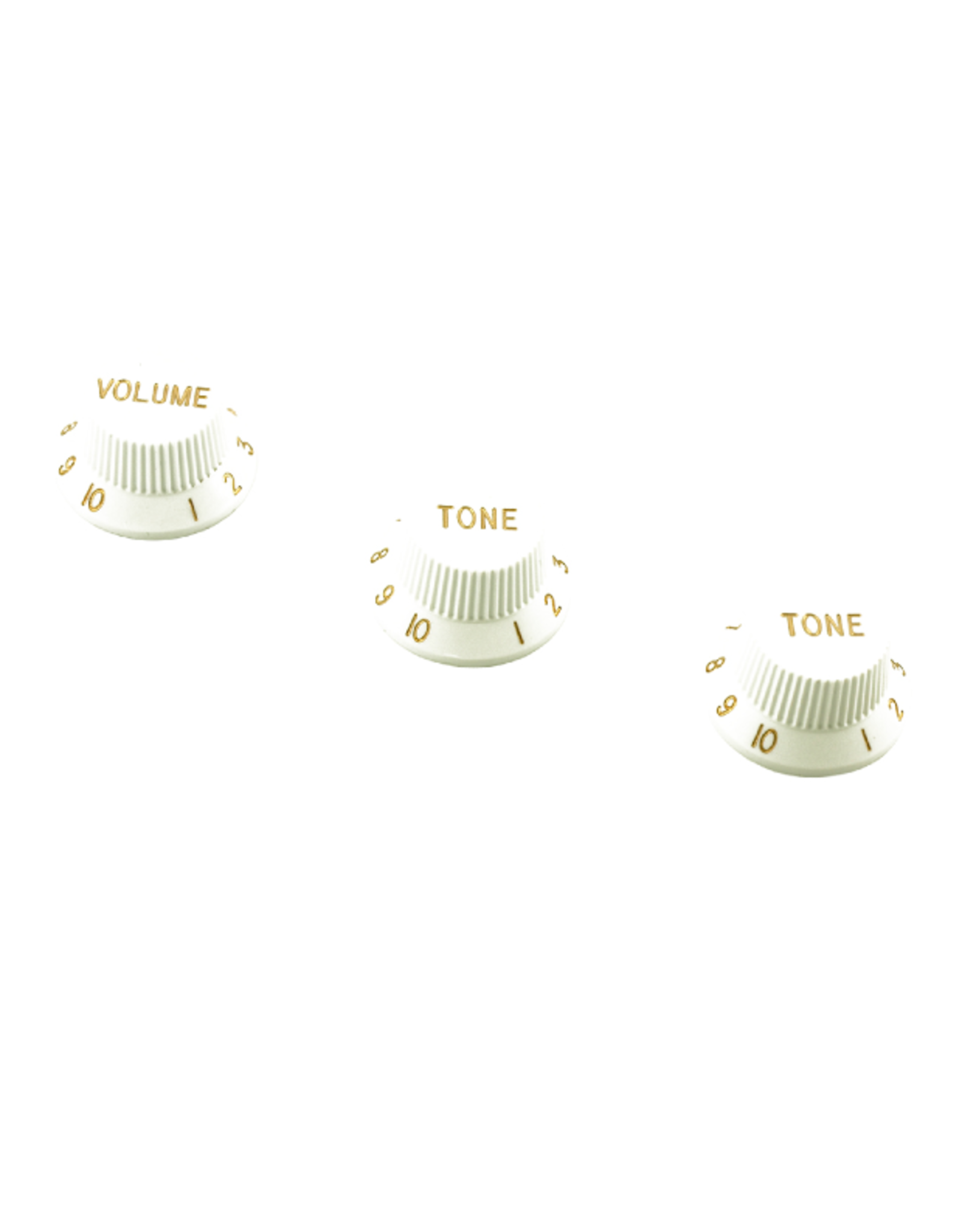 WD Music Products WD Stratocaster/UFO Style Knob Set Metric White