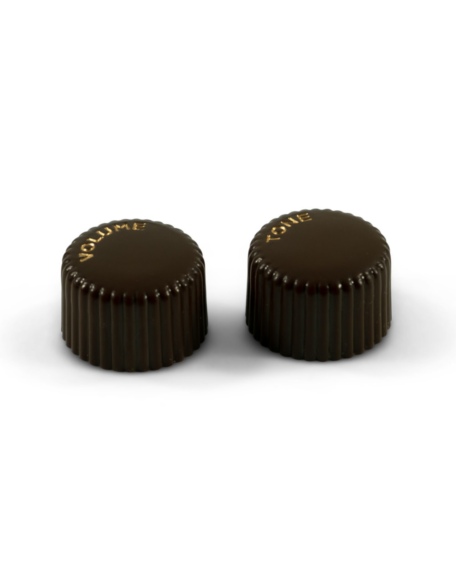 WD Music Products WD Vintage Cupcake Knob Set Of 2 Brown