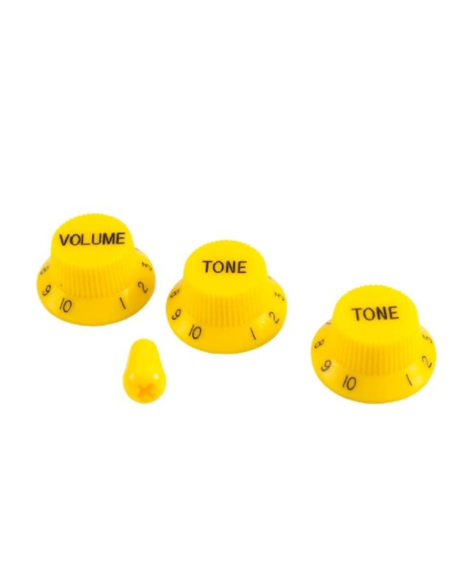 WD Music Products WD Stratocaster/UFO Style Knob Set w/Tip Yellow