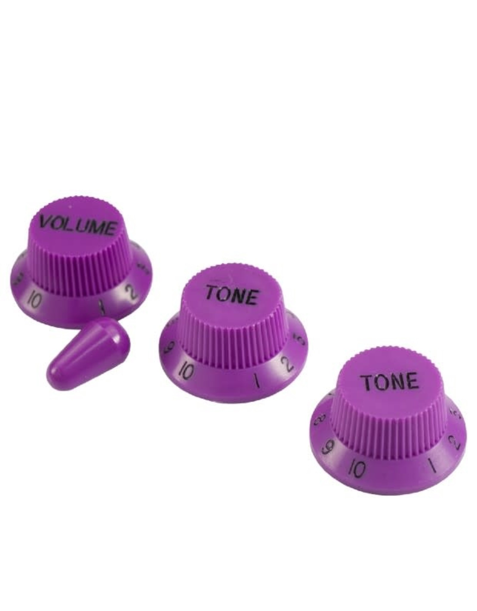 WD Music Products WD Stratocaster/UFO Style Knob Set w/Tip Violet