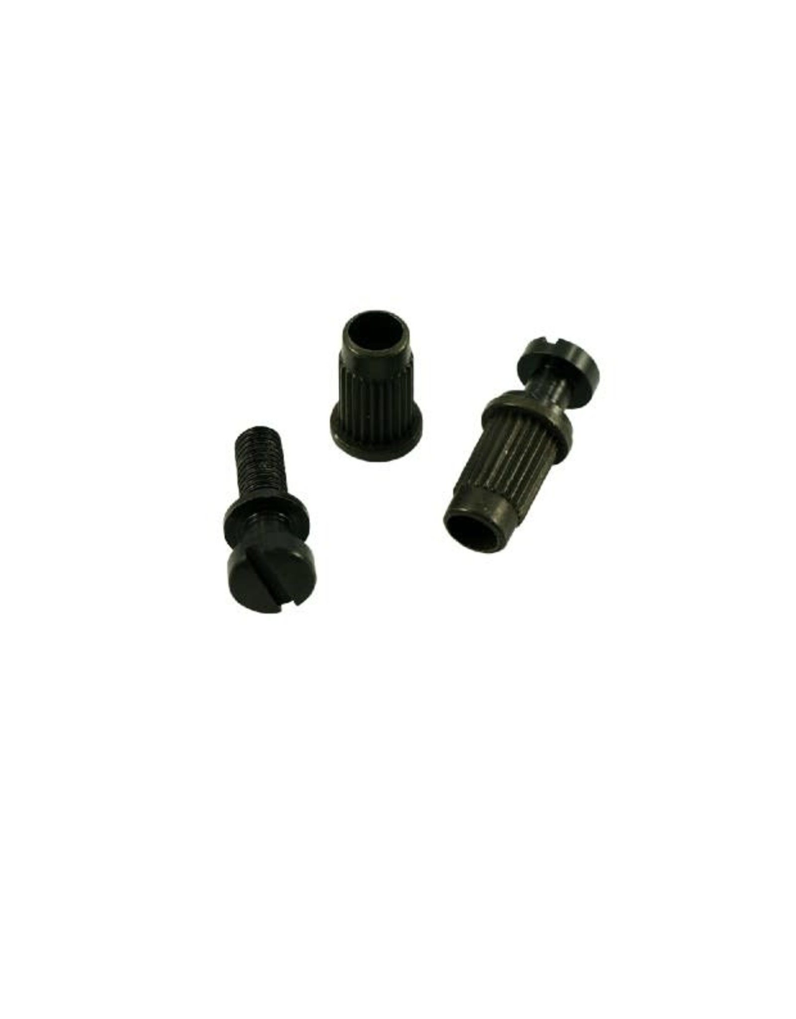 WD Music Products WD 4 Piece Stop Tailpiece Stud & Insert Set With Metric Threads Black