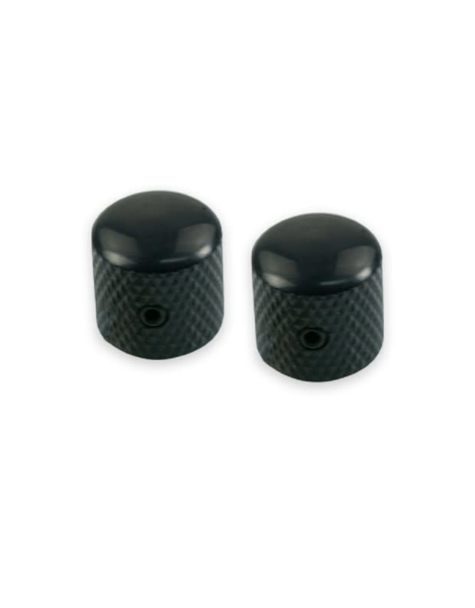 WD Music Products WD® Brass Dome Knob Set Of 2 With 1/4 in. Internal Diameter Black