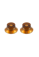 Allparts Allparts Set of 2 Vintage Style Amber Bell Knobs